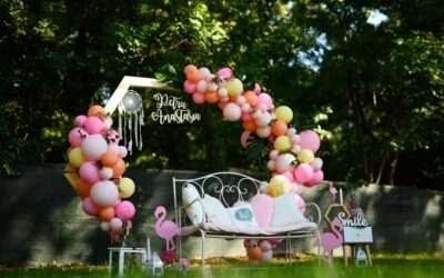 Botez tematica flamingo